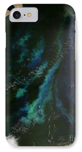 Phytoplankton Off Argentinas Coast Phone Case by Nasa