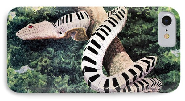 Piano Snake IPhone Case