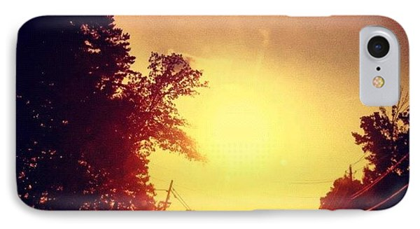 Picking Up Dinner #driving #sunset #sun IPhone Case