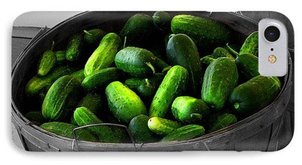 Pickling Cucumbers Phone Case by Ms Judi