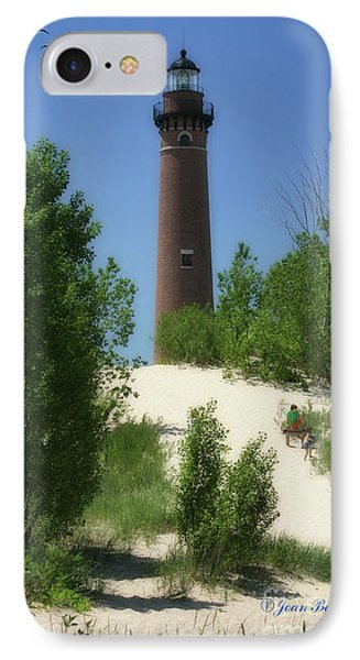 IPhone Case featuring the photograph Picnic By The Lighthouse by Joan Bertucci