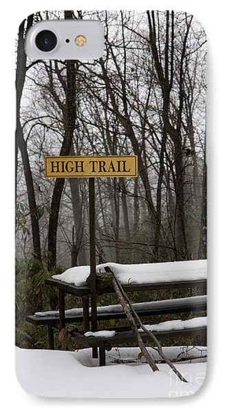Picnic Table In Snow Phone Case by Will and Deni McIntyre