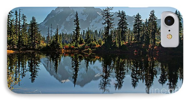 IPhone Case featuring the photograph Picture Lake - Heather Meadows Landscape In Autumn Art Prints by Valerie Garner