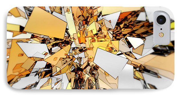 IPhone Case featuring the digital art Pieces Of Gold by Phil Perkins