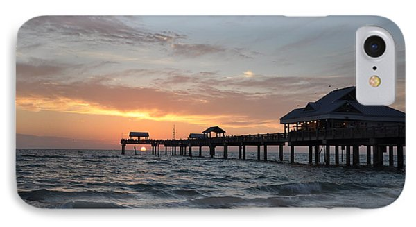 Pier 60 Clearwater Beach Florida Phone Case by Bill Cannon