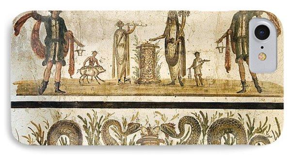 Pig Sacrifice, Roman Fresco Phone Case by Sheila Terry