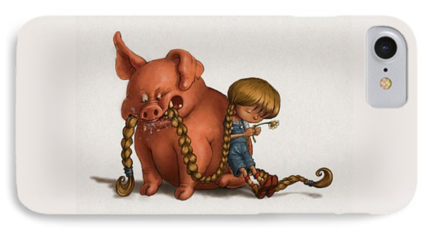 Pig Tales Chomp IPhone Case by Andy Catling