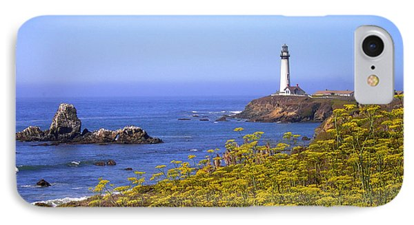 Pigeon Point Lighthouse California Coast Phone Case by Mike Nellums