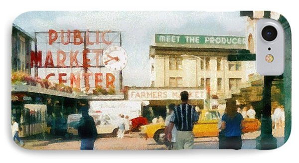 Pike Place Market IPhone Case by Michelle Calkins