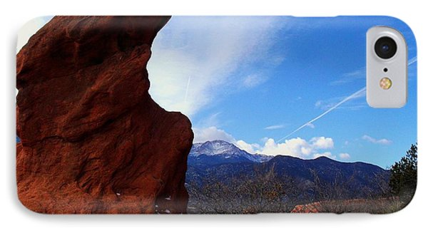 Jut Rock Over Pikes Peak IPhone Case by Clarice  Lakota