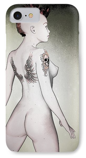IPhone Case featuring the digital art Pin-up No. 5 by Maynard Ellis
