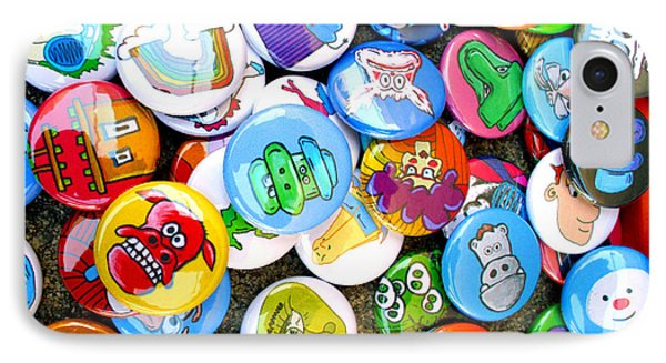 Pinback Buttons Phone Case by Jera Sky