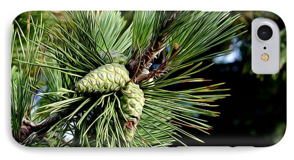 Pine Cones In A Pine Tree Phone Case by Bill Cannon