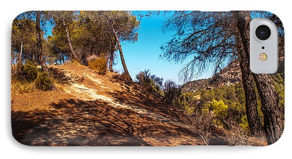 Pine Trees In El Chorro. Spain Phone Case by Jenny Rainbow
