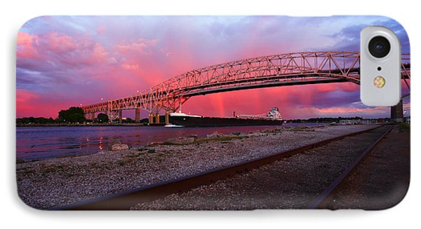 IPhone Case featuring the photograph Pink And Blue by Gordon Dean II