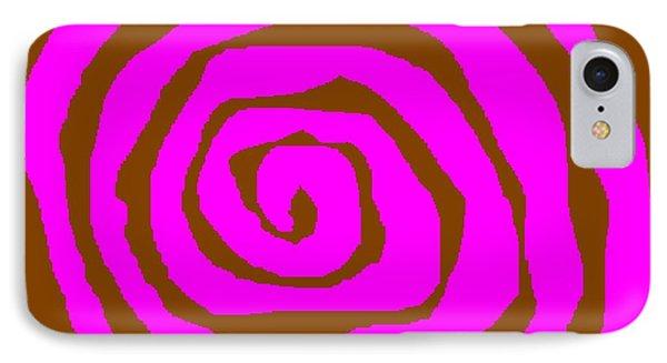 Pink And Brown Swirls Phone Case by Jeannie Atwater Jordan Allen