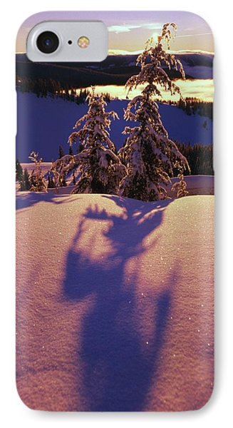Pink And Purple Sunrise Shadows Of Snow Phone Case by Natural Selection Craig Tuttle