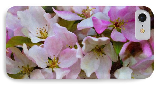 Pink And White Crabapple Blossoms Phone Case by Donna Munro