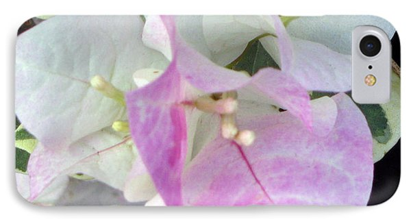 IPhone Case featuring the photograph Pink And White Surprise by Debi Singer