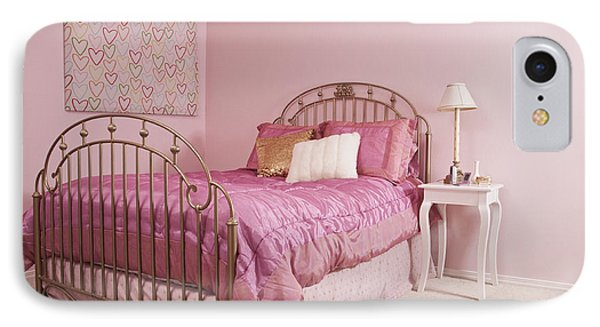 Pink Bedroom Interior Phone Case by Jetta Productions, Inc