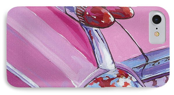 Pink Cadillac IPhone Case by Sandy Tracey