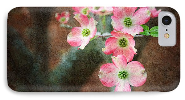 Pink Dogwood Cascade IPhone Case by Andee Design