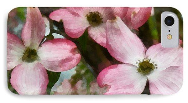 Pink Dogwood Closeup Phone Case by Susan Savad