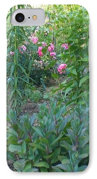 Pink Garden Flowers Phone Case by Thelma Harcum