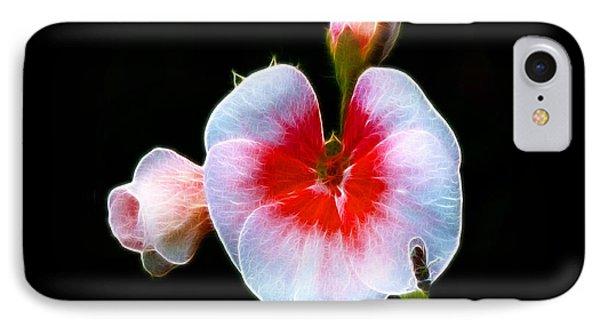 IPhone Case featuring the photograph Pink Geranium by Lynn Bolt