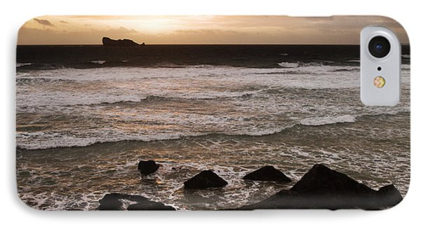 Pink Granite Coast At Sunset Phone Case by Heiko Koehrer-Wagner