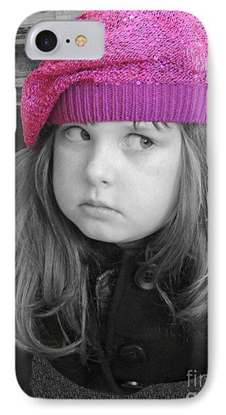 Pink Hat Phone Case by ChelsyLotze International Studio