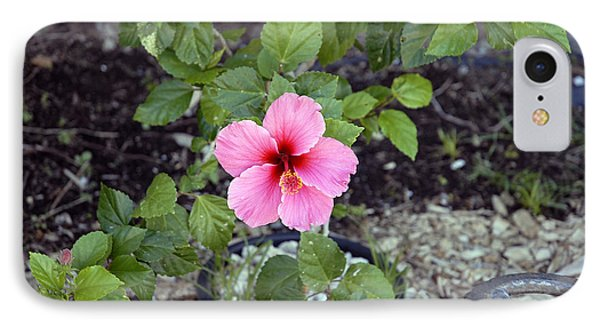 Pink Hibiscus And Wheel IPhone Case