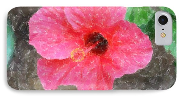 IPhone Case featuring the photograph Pink Hibiscus by Donna  Smith