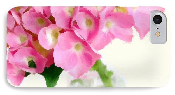 Pink Hydrangea In A Glass Vase Phone Case by Anne Kitzman