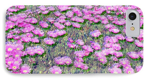 Pink Ice Plant Flowers IPhone Case