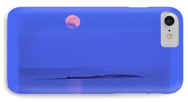 IPhone Case featuring the photograph Pink May Moon by Francine Frank
