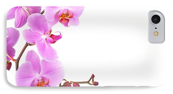 Pink Orchids IPhone Case by Jane Rix