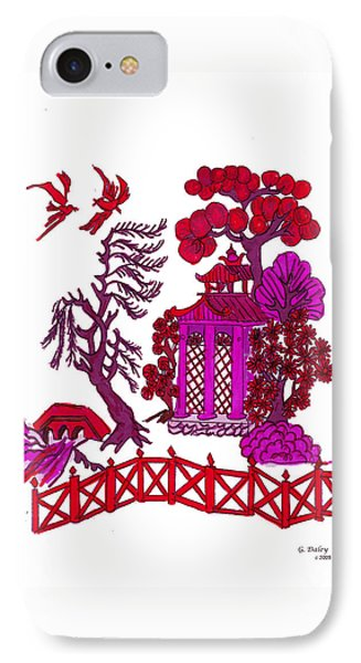 Pink Pagoda Phone Case by Gail Daley
