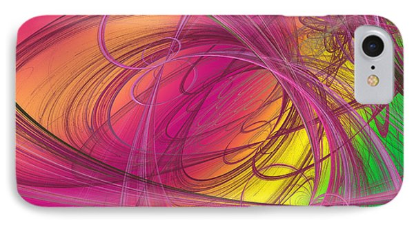 Pink Ribbons Over The Rainbow IPhone Case by Andee Design