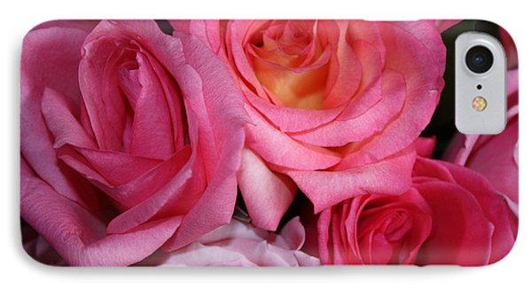 Pink Roses IPhone Case by Robin Regan