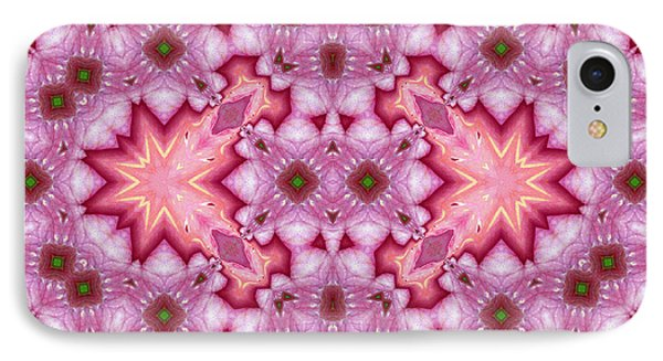 Pink Splash Mandala Abstract IPhone Case by Georgiana Romanovna