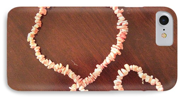 Pink Stone Necklace Bracelet Phone Case by Sonali Gangane