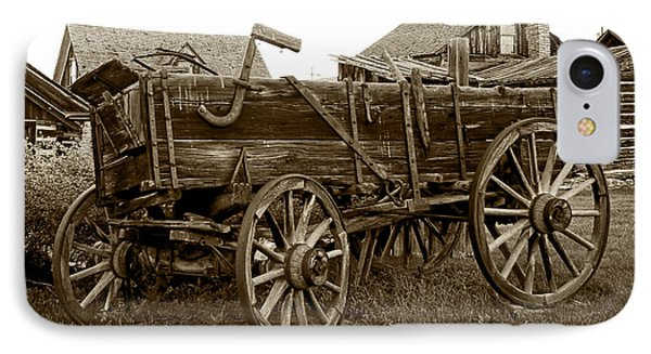 Pioneer Freight Wagon - Nevada City Ghost Town Phone Case by Daniel Hagerman