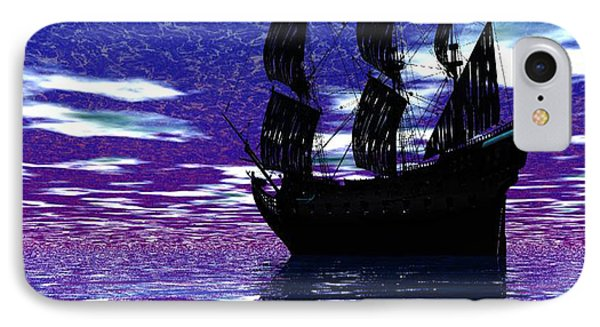 Pirate Ship Phone Case by Matthew Lacey