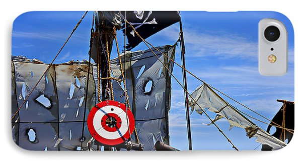 Pirate Ship With Target Phone Case by Garry Gay