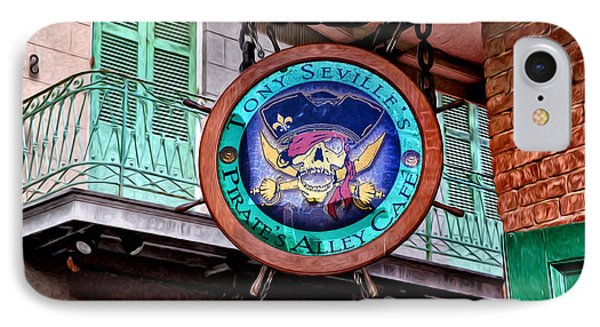 Pirates Alley Cafe Phone Case by Bill Cannon