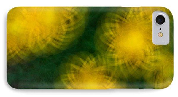 Pirouetting Dandelions Phone Case by Neil Shapiro