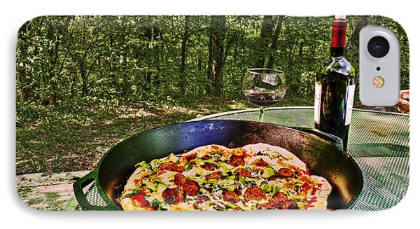 IPhone Case featuring the photograph Pizza And Vino by William Fields