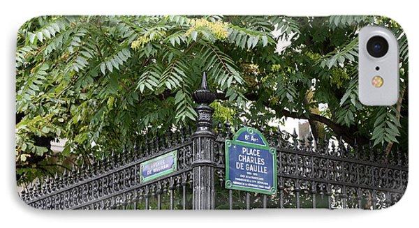 Place Charles De Gaulle And Avenue De Wagram Phone Case by Carol Groenen