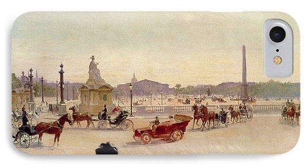 Place De La Concorde - Paris  IPhone Case by Georges Fraipont